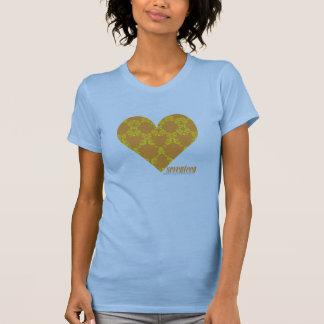 Damassé 2 jaune-orange t-shirt