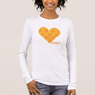 Damassé 2 jaune-orange t-shirt à manches longues