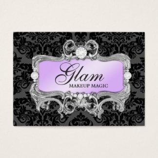 Damassé 311 noire lilas folle fascinante cartes de visite