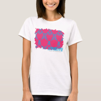 Damassé 3 Aqua-Magenta T-shirt