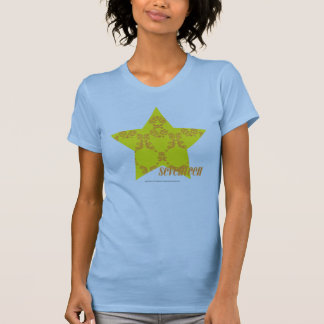 Damassé 3 jaune-orange t-shirt