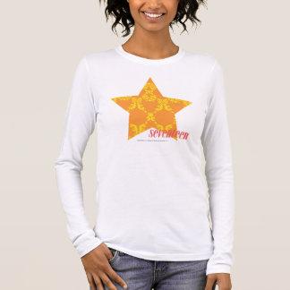 Damassé 3 jaune-orange t-shirt à manches longues