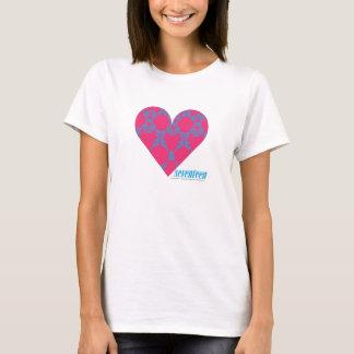 Damassé 4 Aqua-Magenta T-shirt