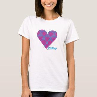 Damassé 4 Aqua-Pourpres T-shirt