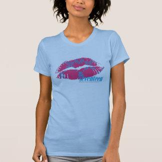 Damassé Aqua-Magenta T-shirt