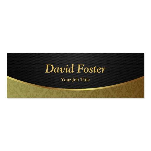 Damassé de luxe élégante de noir et d'or modèle de carte de visite