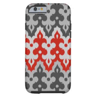 Damassé d'Ikat de Marocain, gris de graphite et Coque Tough iPhone 6