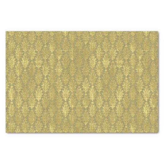 Damassé d'or papier mousseline