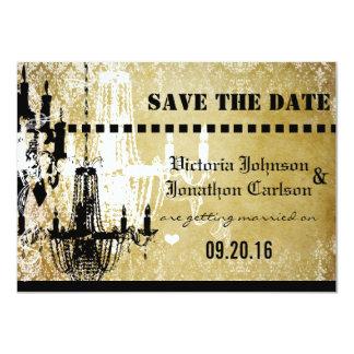 Damassé d'or votre photo sur le mariage arrière de carton d'invitation  11,43 cm x 15,87 cm