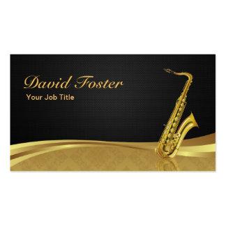 Damassé élégante d'or d'instrument en laiton de carte de visite standard