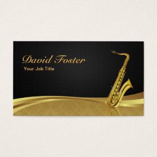 Damassé élégante d'or d'instrument en laiton de cartes de visite