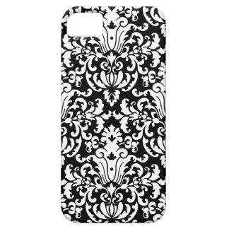 Damassé élégante noire et blanche coque barely there iPhone 5