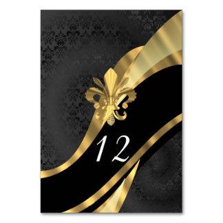 Damassé et gold fleur de lys noirs