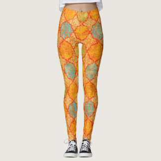 Damassé géométrique leggings