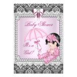 Damassé grise assez rose de baby shower de fille