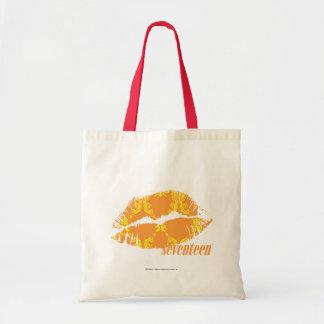 Damassé jaune-orange sac en toile