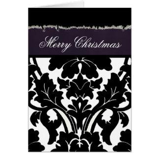 Damassé je cartes de Noël de ~ d'INSERTION de