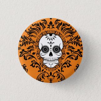Damassé morte - Pin chic de bouton de crâne de Badge