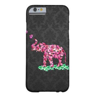 Damassé noire de Sakura de rétro de fleur rose Coque iPhone 6 Slim