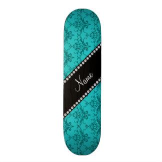 Damassé nommée personnalisée de turquoise skateboards customisés