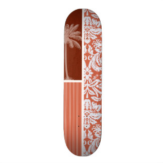 Damassé orange tropicale skateboards