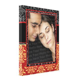 Damassé romantique pour le portrait de mariage Ult Toiles