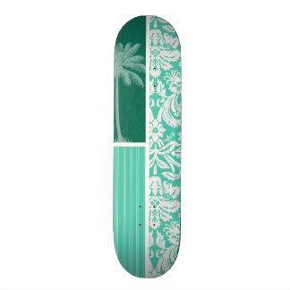 Damassé verte tropicale de Seafoam Skateboards