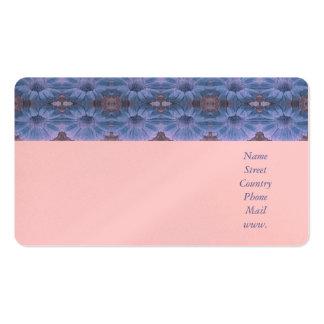 damassé vintage, bleue cartes de visite professionnelles