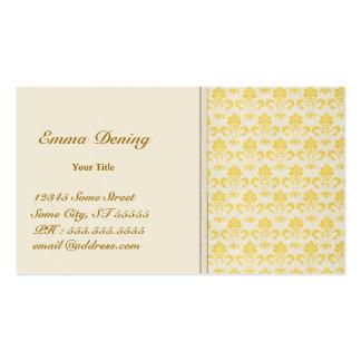 Damassé vintage Businesscard Cartes De Visite Personnelles