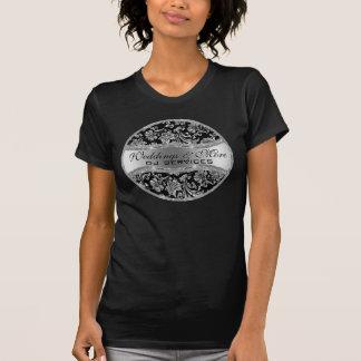 Damassés vintages métalliques argentées 3 t-shirt