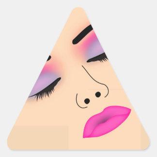Dame de charme sticker triangulaire
