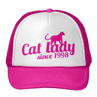 dame de chat depuis 1998 casquette de camionneur