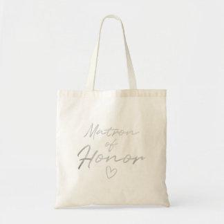 Dame de honneur - sac fourre-tout argenté à