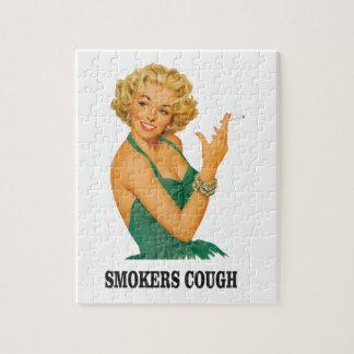 dame de toux de fumeurs puzzle