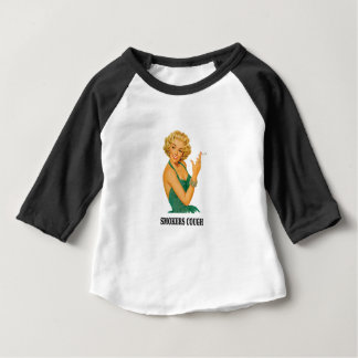 dame de toux de fumeurs t-shirt pour bébé