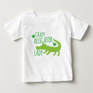 dame folle d'alligator t-shirt pour bébé
