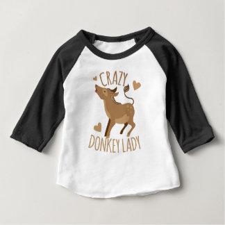 dame folle d'âne t-shirt pour bébé