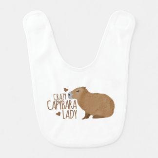 dame folle de capybara bavoirs pour bébé