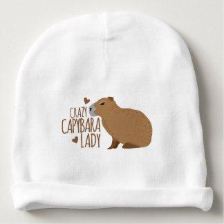 dame folle de capybara bonnet de bébé