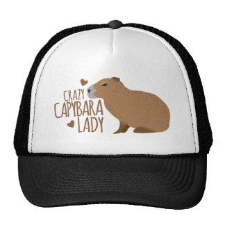 dame folle de capybara casquette de camionneur