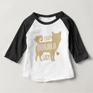 dame folle de chiwawa t-shirt pour bébé