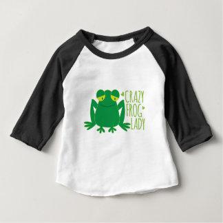 dame folle de grenouille t-shirt pour bébé