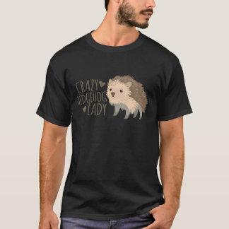 dame folle de hérisson t-shirt