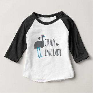 dame folle d'émeu t-shirt pour bébé