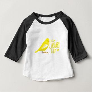 dame jaune canari folle t-shirt pour bébé
