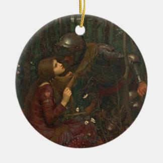 Dame Sans Merci, 1893 de belle de La (huile sur la Ornement Rond En Céramique