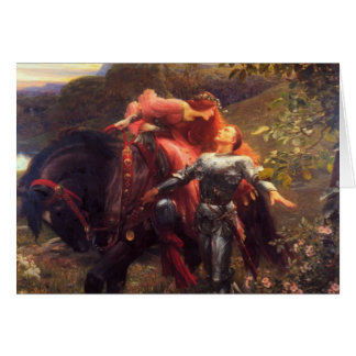 Dame Sans Merci, Frank Dicksee, 1903 de belle de Carte De Vœux