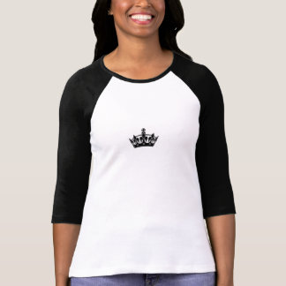 Dames 3/4 raglan de douille (adapté), blanc/noir t-shirt