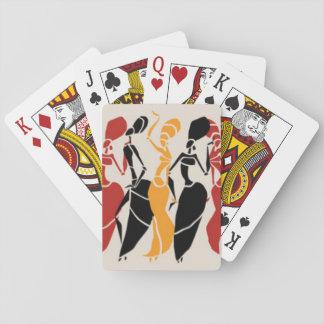 Dames africaines de danse jeux de cartes