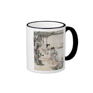 Dames chinoises dans un jardin mugs à café